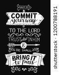 hand lettering commit your way... | Shutterstock .eps vector #1200788191