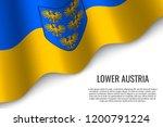 waving flag of lower austria is ... | Shutterstock .eps vector #1200791224
