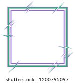 square frame with breaks of... | Shutterstock .eps vector #1200795097