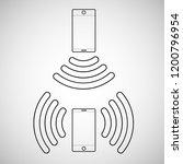 vector two mobile phones...   Shutterstock .eps vector #1200796954