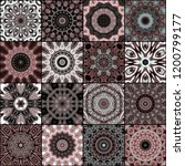 art colorful vintage seamless... | Shutterstock . vector #1200799177