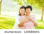 asian senior mother and adult... | Shutterstock . vector #120080041