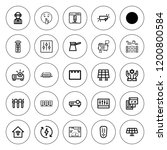 panel icon set. collection of... | Shutterstock .eps vector #1200800584