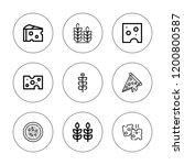 whole icon set. collection of 9 ...   Shutterstock .eps vector #1200800587
