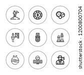 win icon set. collection of 9... | Shutterstock .eps vector #1200800704