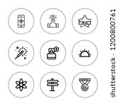 star icon set. collection of 9... | Shutterstock .eps vector #1200800761