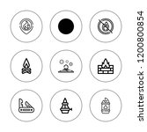 bonfire icon set. collection of ... | Shutterstock .eps vector #1200800854