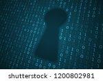 digital keyhole illustration.... | Shutterstock . vector #1200802981