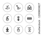stem icon set. collection of 9... | Shutterstock .eps vector #1200803827