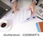 bisinessman working his job at... | Shutterstock . vector #1200806971