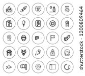 emblem icon set. collection of... | Shutterstock .eps vector #1200809464