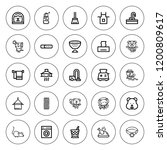 domestic icon set. collection... | Shutterstock .eps vector #1200809617
