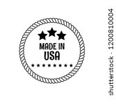made in usa badge. vintage... | Shutterstock .eps vector #1200810004