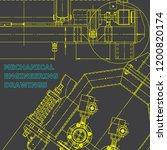 blueprint  scheme  plan  sketch.... | Shutterstock .eps vector #1200820174