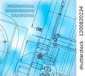 blueprint  sketch. vector... | Shutterstock .eps vector #1200820234