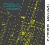 blueprint  sketch. vector... | Shutterstock .eps vector #1200820267