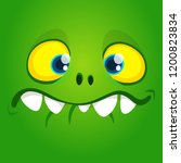 funny cool cartoon gremlin face.... | Shutterstock .eps vector #1200823834