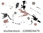 hand drawn set of sepia colored ...   Shutterstock .eps vector #1200824674