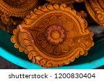 terracotta diya made by hand.... | Shutterstock . vector #1200830404