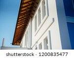 two storey townhouse in white | Shutterstock . vector #1200835477