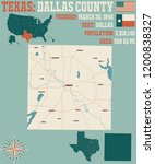 detailed map of dallas county... | Shutterstock .eps vector #1200838327