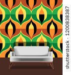 seamless retro pattern in the... | Shutterstock .eps vector #1200838387