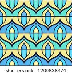 seamless retro pattern in the... | Shutterstock .eps vector #1200838474