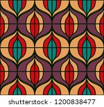 seamless retro pattern in the... | Shutterstock .eps vector #1200838477