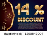 14  off discount promotion sale ... | Shutterstock .eps vector #1200843004