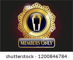 gold shiny badge with dead man ... | Shutterstock .eps vector #1200846784