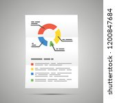 bright colorful diagram a4... | Shutterstock .eps vector #1200847684
