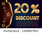 20  off discount promotion sale ... | Shutterstock .eps vector #1200847891