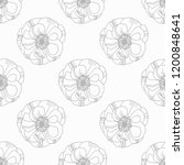 seamless pattern with flower   Shutterstock .eps vector #1200848641