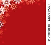 christmas red background with... | Shutterstock .eps vector #1200849334
