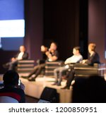 tech panel on stage during... | Shutterstock . vector #1200850951
