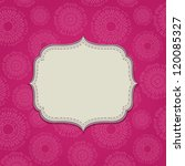 pink invitation card with blank ... | Shutterstock .eps vector #120085327
