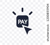 pay per click transparent icon. ... | Shutterstock .eps vector #1200855904