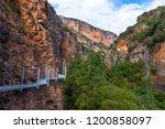vero river footpath  alquezar ...   Shutterstock . vector #1200858097