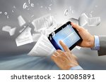 the library in the e book... | Shutterstock . vector #120085891