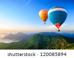 colorful hot air balloons... | Shutterstock . vector #120085894