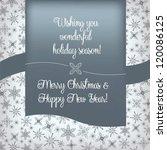 elegant vintage christmas and... | Shutterstock .eps vector #120086125