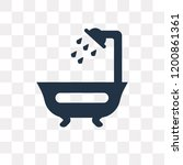 shower vector icon isolated on... | Shutterstock .eps vector #1200861361