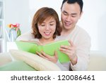 beautiful loving asian couple... | Shutterstock . vector #120086461