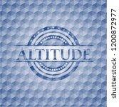 altitude blue hexagon emblem. | Shutterstock .eps vector #1200872977