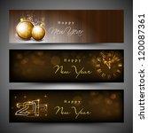 2013 happy new year. eps 10. | Shutterstock .eps vector #120087361