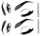 illustration with woman's eyes  ...   Shutterstock .eps vector #1200878767