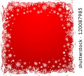 grunge christmas frame with... | Shutterstock .eps vector #120087985