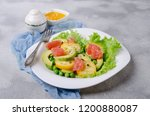 salad of fresh vegetables with... | Shutterstock . vector #1200880087