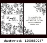 vintage delicate greeting... | Shutterstock . vector #1200880267