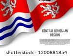 waving flag of central bohemian ... | Shutterstock .eps vector #1200881854